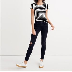 "9"" Mid-Rise Skinny Jeans in Black Sea: Madewell"